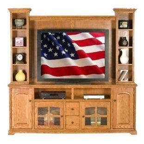 "American Heartland Manufacturing - Oak 32"" Entertainment Hutch"