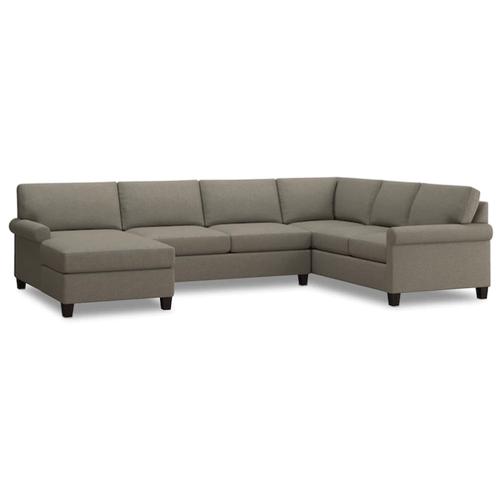 Bassett Furniture - Spencer Left Chaise Sectional - Dove Fabric