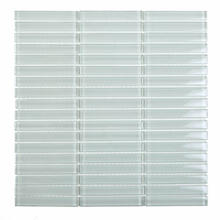 A4010 Levels Glass Mosaic - WHITE