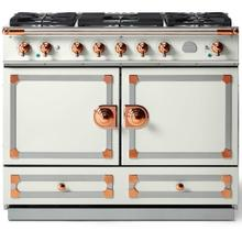 "CornuFe 110 cm Dual-Fuel Range (43"")- Pure White w/ Polished Copper Trim"