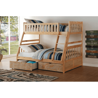 Bartly Bunk Bed Twin on Full with Storage Drawers