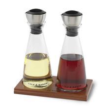 Cole & Mason Oil & Vinegar Dispenser Gift Set Pourer with Flow Select