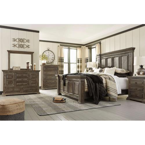 Wyndahl 4 Pc. Queen Bedroom Set Rustic Brown
