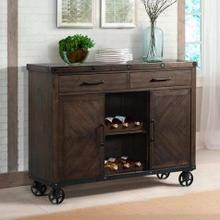 See Details - Colorado Industrial Server with Wine Bottle Storage