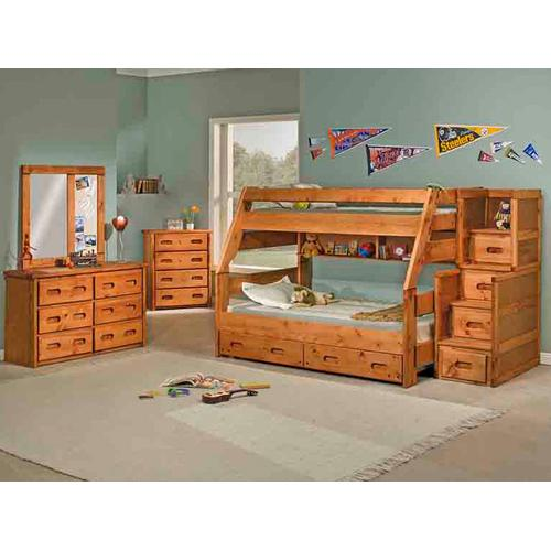 High Sierra Twin/Full Bunk Bed with Mattresses