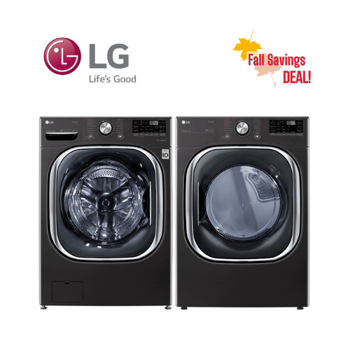 View Product - Fall Savings Deal - LG Black Steel Front Load Laundry Pair Package