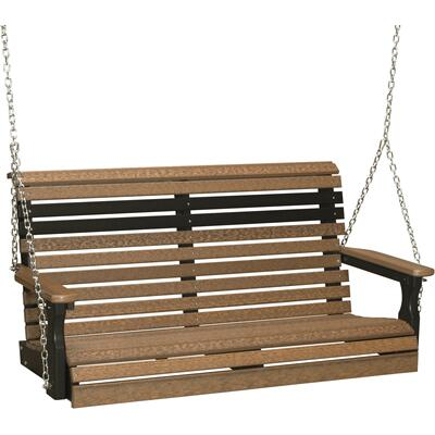 Plain Swing 4' Premium Antique Mahogany and Black
