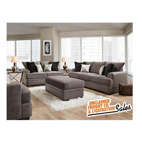 American Furniture Manufacturing - Graphite Gray Loveseat - Chenille
