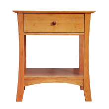 Solid Natural Cherry 1 Drawer Open Nightstand