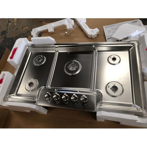 "Bosch - 800 Series, 36"" Gas Cooktop, 5 Burners, Stainless Steel"