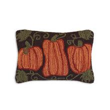 "HARVEST PUMPKIN 14"" x 20"" HOOKED WOOL PILLOW"