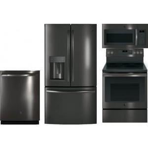 GE Black Stainless Kitchen Package