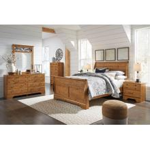 Bittersweet Qn Sleigh Bed, Dresser, Mirror and Nightstand