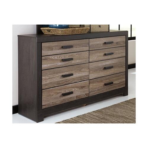 Ashley Furniture - Harlinton Queen Bedroom - Dresser, Mirror, Headboard, Footboard, Rails
