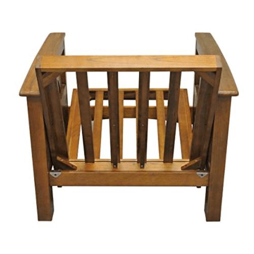 "Gold Bond Futons - Burlington Futon Frame - 28"" chair with ottoman"