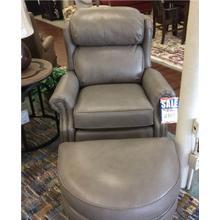 Leather Tiltback Chair & Ottoman