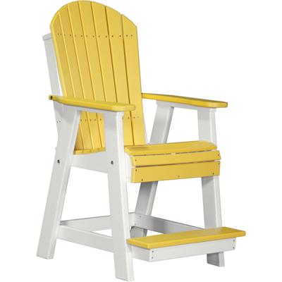 Adirondack Balcony Chair Yellow and White