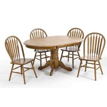 Classic Oak 42 x 42-60 Oak Pedestal Base - Chestnut