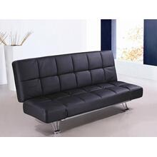 Venus Black Leatherette Sofa Bed