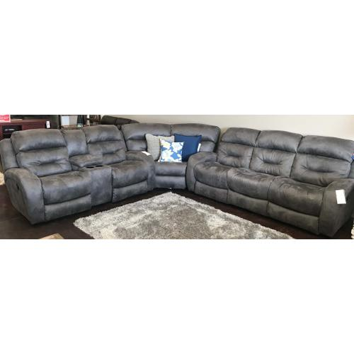 Grey Fabric Reclining Sectional
