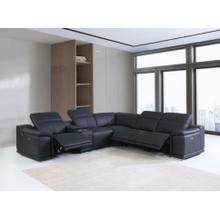 See Details - 9762 - Genuine Italian Leather - Camel 6-Piece Sectional (3 Power Reclining and Console)