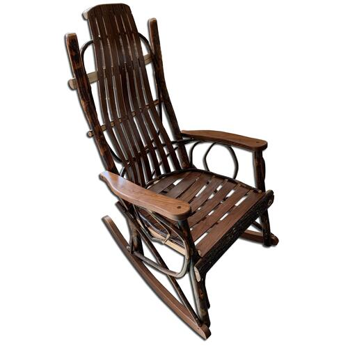 Amish Walnut and Hickory Rocker