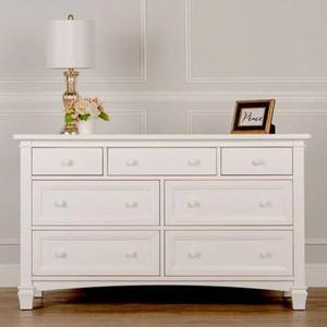 Evolur Fairbanks Double Dresser- White