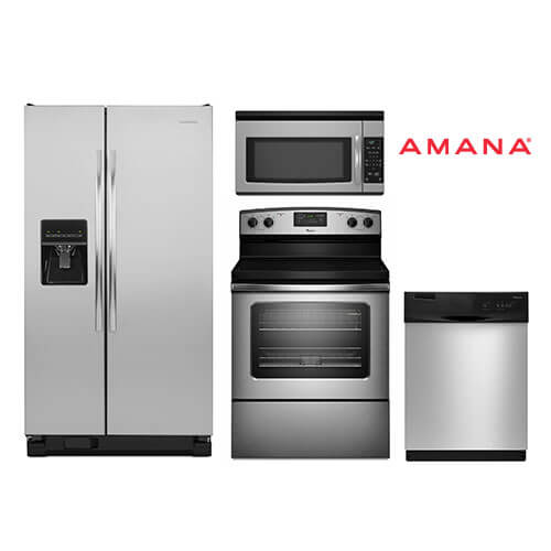 Amana 4-piece Stainless Steel Appliance Package With Electric Range