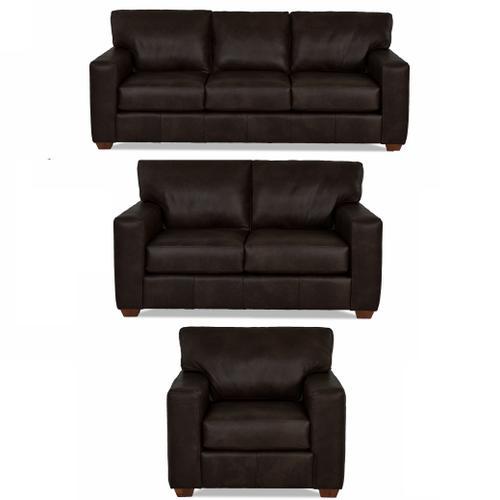 Sydney Java All Leather Sofa, Loveseat & Chair