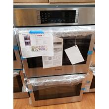 """See Details - Bosch 800 Series 30"""" Double Electric Wall Oven HBL8651UC (FLOOR MODEL)"""