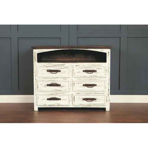 """L.M.T. Rustic and Western Imports - Rustic White 50"""" TV Stand"""