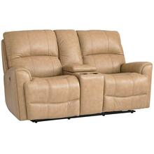 Avon Motion Loveseat w/ Power Console in Oatmeal