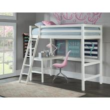 View Product - Glendale Twin Size Loft with Desk White
