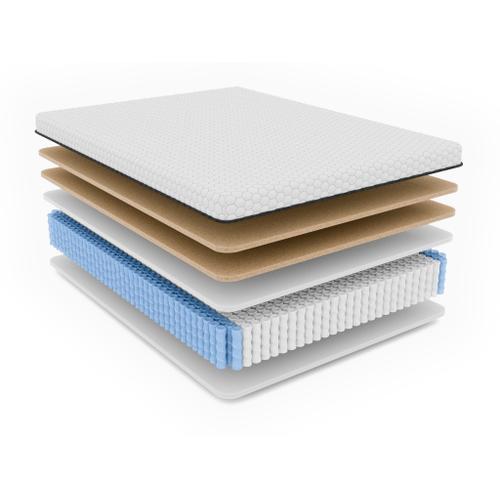 "Dr Greene's - Dr. Greene's Jade 12.5"" Cooling Copper Gel Memory Foam Hybrid Mattress (Pocketed Coils) - Firm"