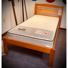 Berkeley Platform Bed in Pecan    (Mattress sold separately)   (102P,62890)