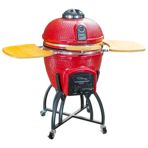 """Vision Grills - Vision Grills 51"""" Kamado Ceramic Charcoal Grill with Smoker"""