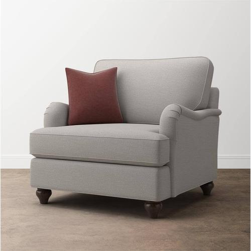 Bassett Furniture - Premier Collection - Custom Upholstery Deep Chair And A Half