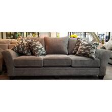 See Details - Stanton Sofa in Domain Iron w/ pillows in Denali Pewter