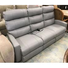 ID:233612 Power space saver sofa with power headrest in grey leather