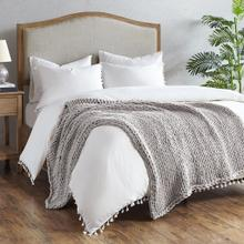 Product Image - Handmade Grey Chunky Double Knit Throw (50w x 60l)