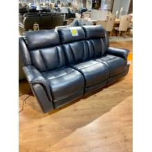 Juno Cobalt Leather Power Reclining Sofa