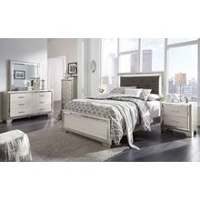 B410 7PC Set: Queen Panel Bed, Dresser, Mirror, Chest, & Nightstand (Lonnix)