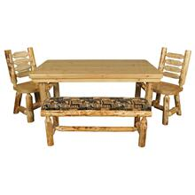 WRP268 White Cedar 5.5' Rectangular Dining Table with Rustic Red Pine Legs