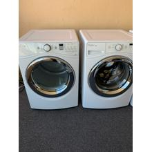Refurbished Whirlpool White Front Load Washer Dryer. Please call store if you would like additional pictures. This set carries our 6 month warranty, MANUFACTURER WARRANTY AND REBATES ARE NOT VALID (Sold only as a set)