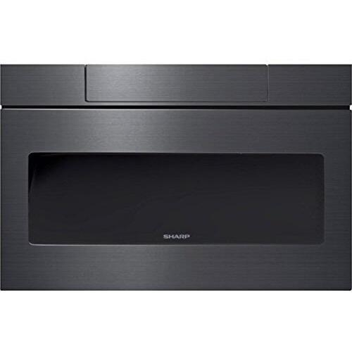 Sharp - Sharp Microwave Drawer Oven, 24 in. 1.2 cu. ft. 1000W Black Stainless Steel