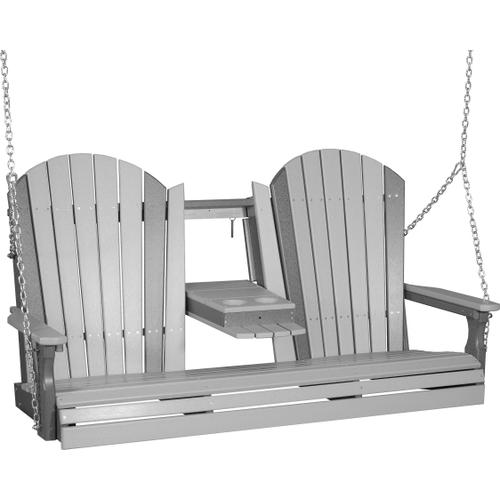 Adirondack Swing 5' Dove Gray and Slate