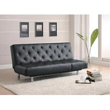 Black Vinyl Sofa