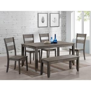 Packages - Sean Melamine 5pc Dining Room Set Plus Bench