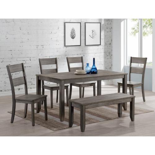 Sean Melamine 5pc Dining Room Set Plus Bench