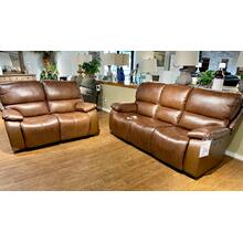 See Details - Leather Power Sofa and Loveseat